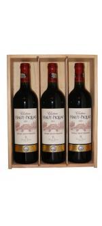Coffret bois 3 bouteilles Ch Haut Piquat